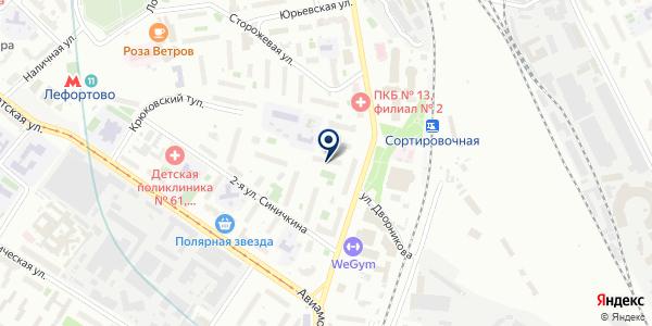 МЭИ-4 на карте Москве