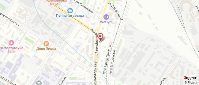 Карта расположения пункта доставки Москва Авиамоторная в городе Москва
