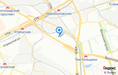 Местоположение на карте пункта техосмотра по адресу г Москва, пр-кт Волгоградский, д 41 к 2
