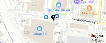 Мегамото на карте Москвы