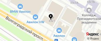 АВИЛОН на карте Москвы