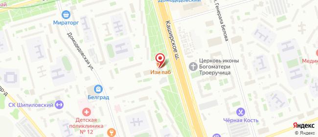 Карта расположения пункта доставки Москва Каширское в городе Москва