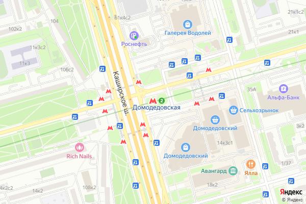 Ремонт телевизоров Метро Домодедовская на яндекс карте