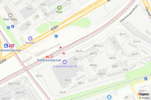 Ремонт телевизоров Улица Новохохловская на яндекс карте