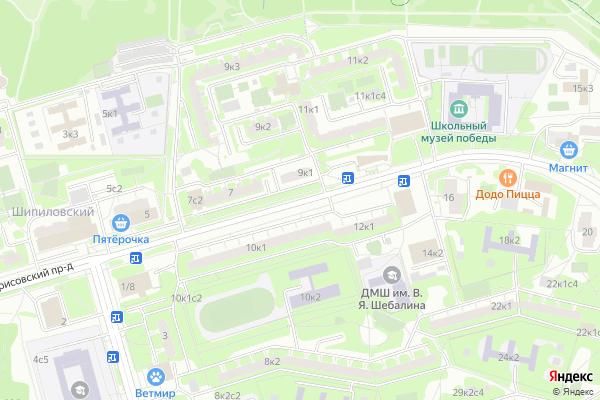 Ремонт телевизоров Борисовский проезд на яндекс карте