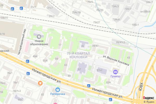 Ремонт телевизоров Улица Верхняя Хохловка на яндекс карте