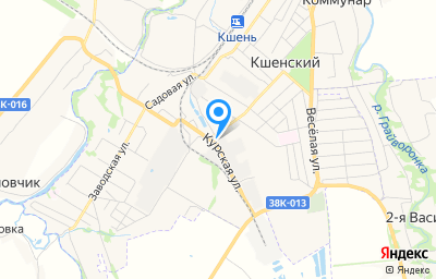 Местоположение на карте пункта техосмотра по адресу Курская обл, рп Кшенский, ул Свердлова, д 1