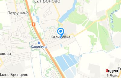 Местоположение на карте пункта техосмотра по адресу Московская обл, Ленинский р-н, д Калиновка
