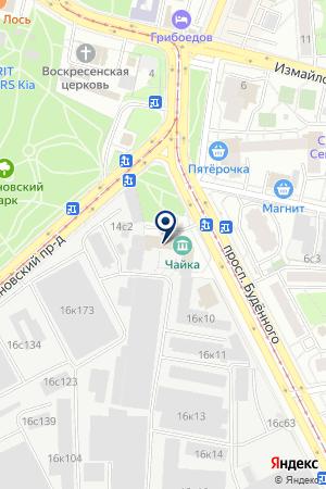 ДК ЧАЙКА на карте Москвы