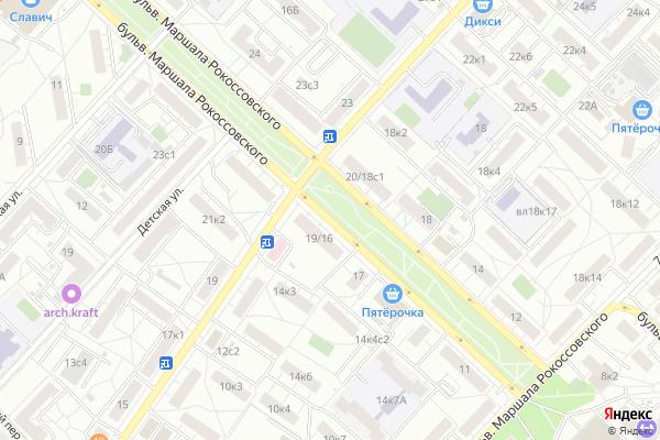 Ремонт телевизоров Маршала Рокоссовского бульвар на яндекс карте