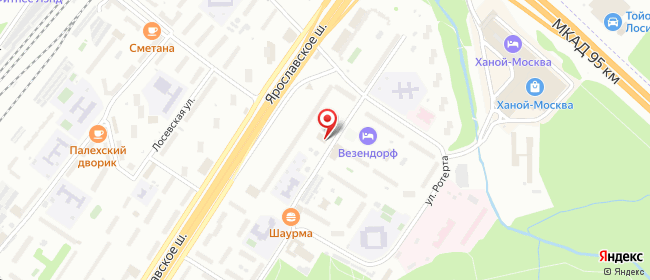 Карта расположения пункта доставки Москва Ярославское в городе Москва