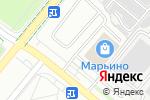Схема проезда до компании Марьино в Москве