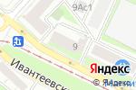 Схема проезда до компании Дизайн+ в Москве