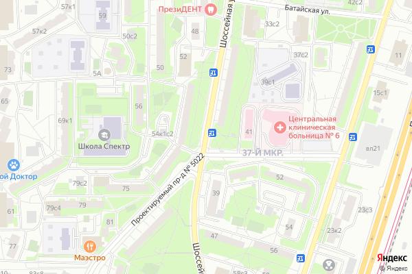 Ремонт телевизоров Улица Шоссейная на яндекс карте