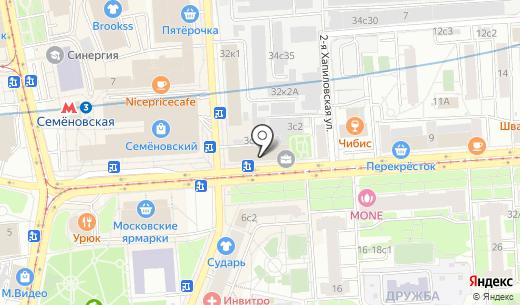 ЭкоПотолки. Схема проезда в Москве