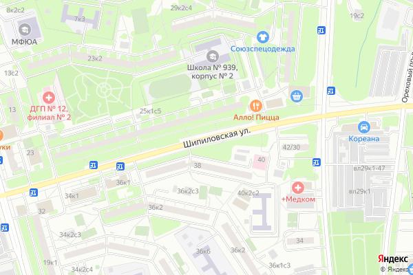 Ремонт телевизоров Улица Шипиловская на яндекс карте