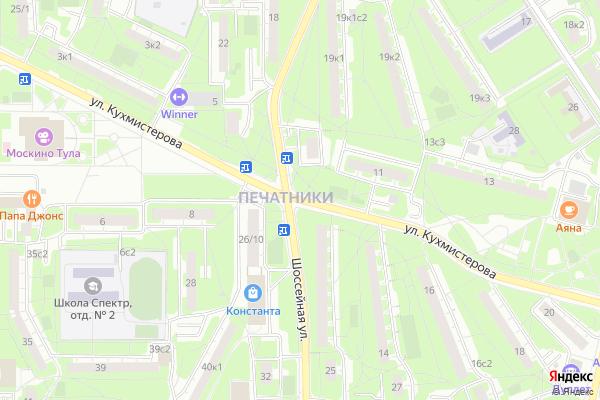 Ремонт телевизоров Улица Кухмистерова на яндекс карте
