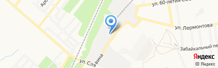 Донпенострой на карте Донецка