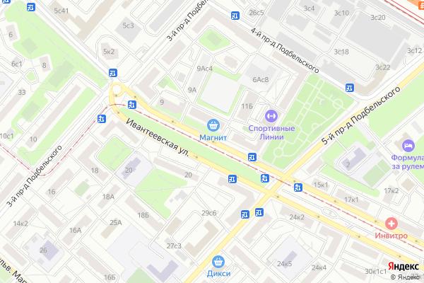 Ремонт телевизоров Улица Ивантеевская на яндекс карте