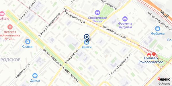 Кендро на карте Москве