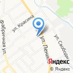 Цемдолинский на карте Новороссийска