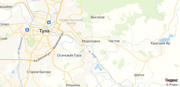 Морозовка на карте