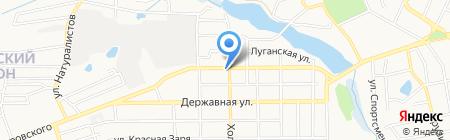 TEV на карте Донецка