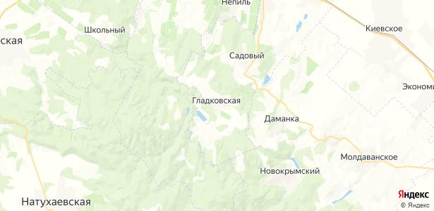 Гладковская на карте