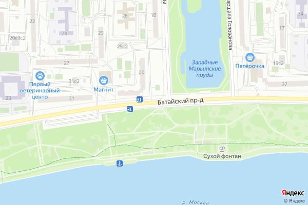 Ремонт телевизоров Батайский проезд на яндекс карте