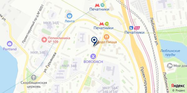 САЛОН КРАСОТЫ АНКРОН на карте Москве