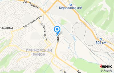 Местоположение на карте пункта техосмотра по адресу Краснодарский край, г Новороссийск, с Цемдолина, ул Ленина, д 54