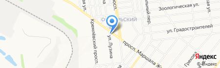 Копейка на карте Донецка