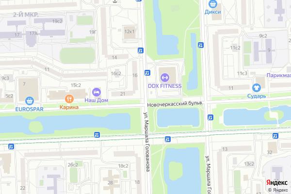 Ремонт телевизоров Улица Маршала Голованова на яндекс карте
