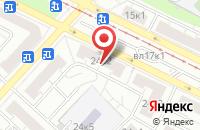 Схема проезда до компании Профстройгрупп в Москве