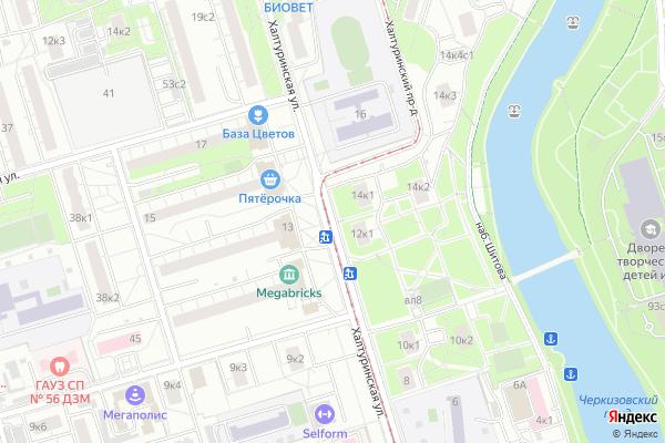 Ремонт телевизоров Улица Халтуринская на яндекс карте