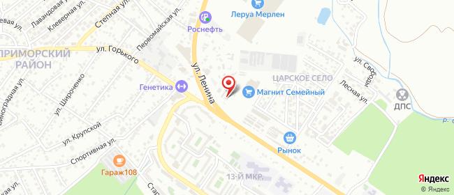 Карта расположения пункта доставки Новороссийск Анапское в городе Новороссийск