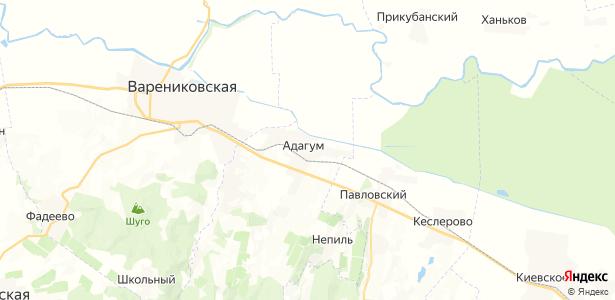 Адагум на карте