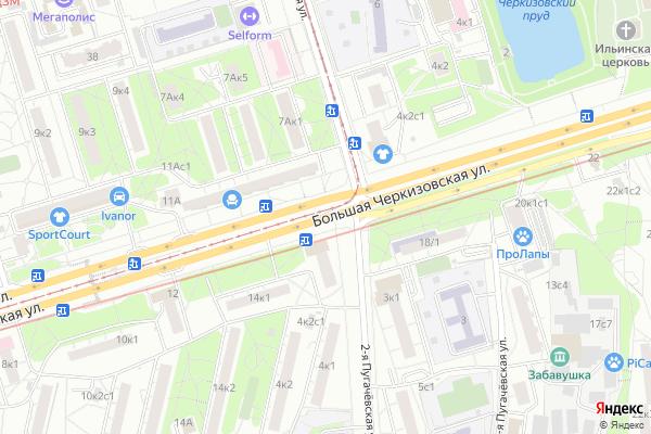 Ремонт телевизоров Улица Большая Черкизовская на яндекс карте