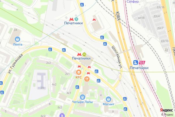 Ремонт телевизоров Метро Печатники на яндекс карте