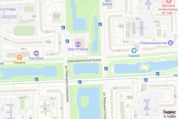 Ремонт телевизоров Новочеркасский бульвар на яндекс карте
