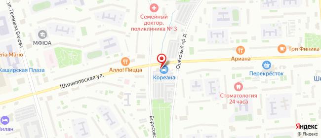 Карта расположения пункта доставки Москва Шипиловская в городе Москва