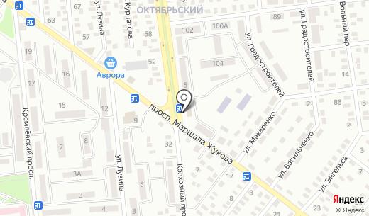Кирюша. Схема проезда в Донецке
