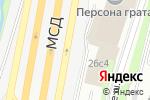 Схема проезда до компании Bent Wood в Москве