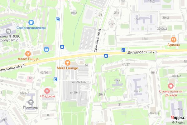Ремонт телевизоров Ореховый проезд на яндекс карте