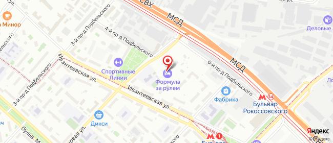 Карта расположения пункта доставки Москва Подбельского 5-й в городе Москва