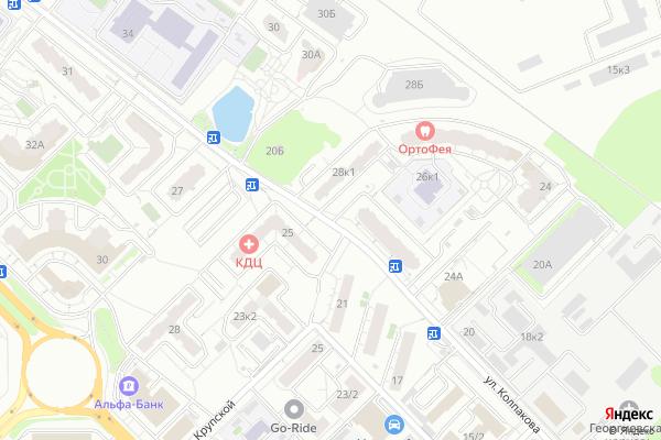 Ремонт телевизоров Улица Колпакова на яндекс карте