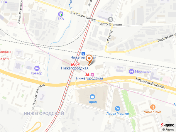 Остановка «Метро Нижегородская», шоссе Фрезер (1008882) (Москва)