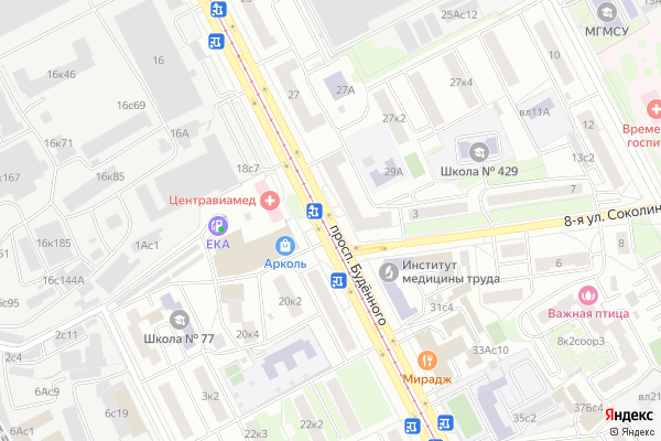 Ремонт телевизоров Буденного проспект на яндекс карте