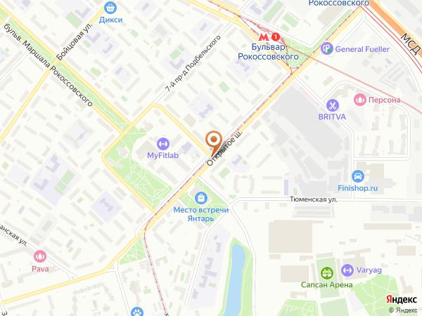 Остановка «Бульв. Марш. Рокоссовского», Открытое шоссе (6244) (Москва)