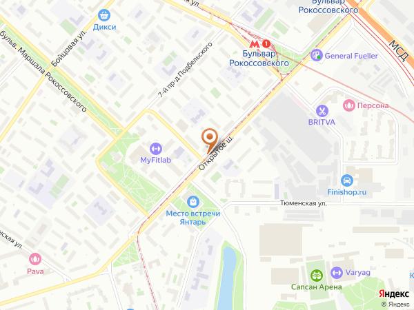 Остановка «Бульв. Марш. Рокоссовского», Открытое шоссе (3706) (Москва)